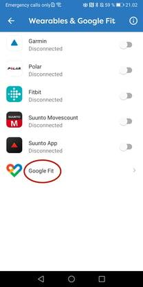 Account Google Fit 3 EN